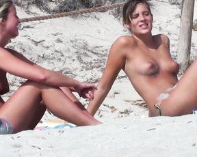 The first babe  has fine udders and she liked to show them on the beach and now to you, cyprus -04.