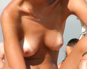 The famous nude beach in agde. Look by yourself: only beautiful woman passing by.
