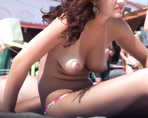The more comments the more clips. Last entry only a few comment come on guys and babes she likes to hear what you all think about her natural body. This was taken at a nude plage.