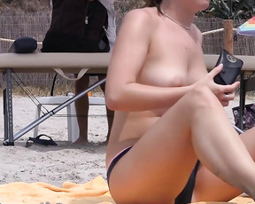 Some videos of me being nude on the beach and somewhere outdoor.