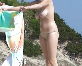 As you liked the first posting, here are some other videos of this german plage beauty.